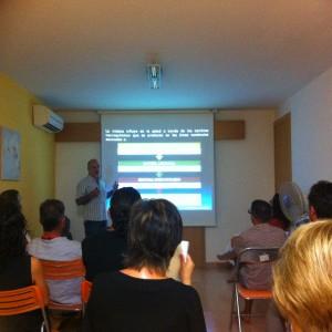 Presentación del libro en el centro Renma Dendos (Els Pallaresos, Tarragona)