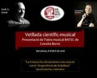 Velada científico-musical: conferencia y actuación musical, 8 abril (Barcelona)